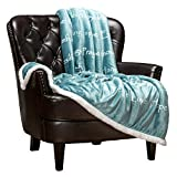 Chanasya Healing Compassion Warm Hugs Gift Throw Blanket - Sympathy Gift Cancer Chemo Survivor Soft Cozy Caring Get Well Gifts - Comfort Gift Blanket for Love Support - Women Men Friend - Turquoise