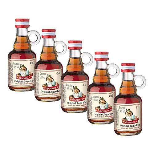 Jaga-Tee Konzentrat 40% vol. (5 x 40ml) in Mini-Henkelfläschchen