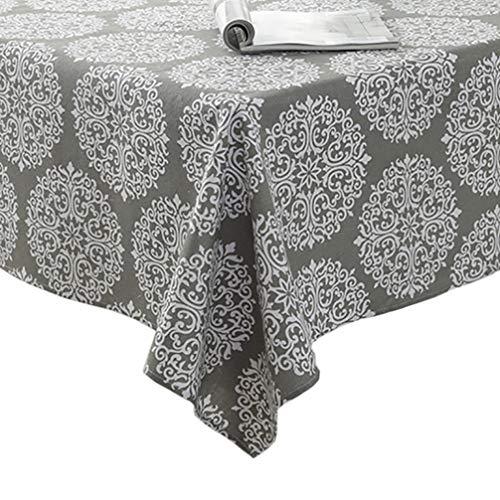 Algodón Lino Cubierta de tabla a prueba de polvo - Vintage Rectangle Dinner Picnic Table Cloth Muchos tamaños,Gray,130x180cm(51x70inch)