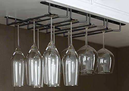 it's useful. Under Cabinet Hanging Stemware Rack Hold Up To 12 Wine Glasses