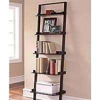 Mainstays Leaning Ladder 5-Shelf Bookcase (Espresso)