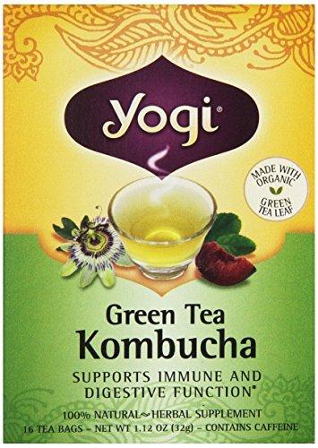 Yogi Herbal Green Tea Kombucha 16 Tea Bags NET WT 1.12 OZ (32G) by YOGI