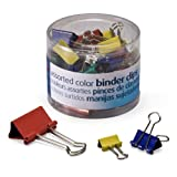 color binder clips - OfficemateOIC Binder Clips, Assorted Colors and Sizes, 30 Clips per Tub (31026)