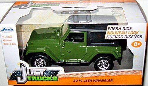 a la venta JADA JUST TRUCKS 1 32 SCALE DARK verde negro TOP TOP TOP 2014 JEEP WRANGLER DIE-CAST by Just Trucks  soporte minorista mayorista