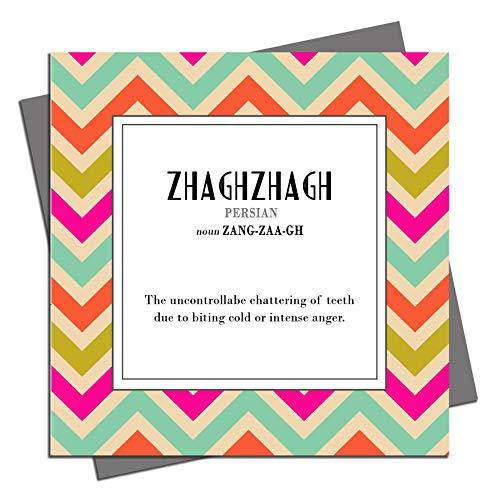 Zhaghzhagh Geburtstagskarte, blanko