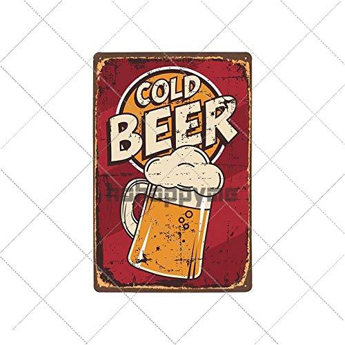 muzi928 Hojalata de alcantarilla Cerveza Cartel de Chapa Placa Vintage Pub Placa de Metal Divertida Cartel en Mal Estado Tiki Bar Restaurante Pared Decorativa Decoración para el hogar 20514001