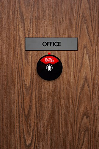 Kichwit Privacy Sign, Do Not Disturb Sign, Out of Office Sign, Please Knock Sign, In a Meeting Sign, Office Sign, Conference Sign for Offices, 5 Inch, Black Photo #6