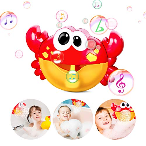 Bubble-Machine Baby Bath Toys for Toddlers Kids Automatic Bubble Maker Bathtub...