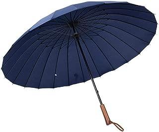 DELILONG 長傘 レディース傘 高強度24本骨 紳士傘 雨に濡れると花が浮き出る 雨降る時、お客様に絶対的な安 全感を与える,傘メンズ 耐風傘 2重PG布 (blue)
