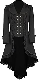 Steampunk Clothing for Women Blouse Womens Vintage Tailcoat Jacket Gothic Victorian Frock Coat Uniform Costume
