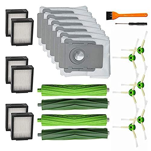 PUHE Partes de aspirador piezas polvo bolsas kit ajuste para irobo fit para Roomba serie irobot i7 E5 E6 Partes de aspirador accesorios