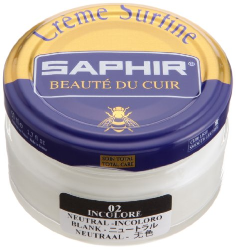 Crème Surfine, de la marca Saphir, para abrillantar zapatos, 50 ml (02) NEUTRAL