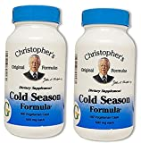 Dr. Christopher's Cold Season Formula, 100 Caps 2 Pack