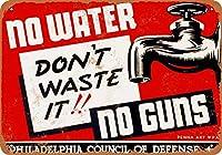 金属看板1941フィリーズ水や銃を無駄にしないでください屋外屋内壁パネル住宅装飾