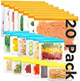 Reusable Storage Bags,20 Pack BPA Free PEVA Resuable...