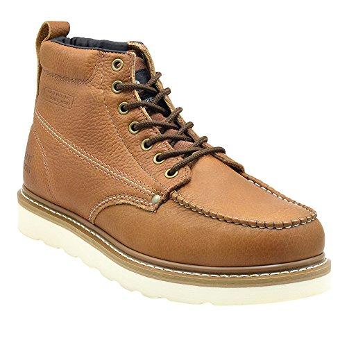 King Rocks Men's Moc Toe Construction Boots Work Shoes...