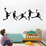 Basketball Players Wall Decals Slam Dunk Wall Sticker DIY Wallpaper Home Art Decor for Kids Bedroom