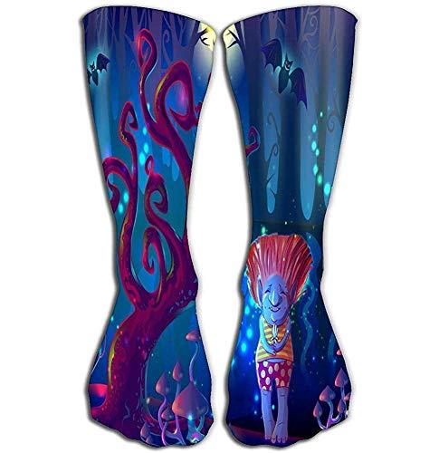 Heren jurk sokken Fun Athletic sokken 50 cm Dark Magic Zauberwald sjabloon bomen paddenstoel vijver vleermuis schattig tr