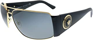 Versace VE 2163 100287 Gold Metal Aviator Sunglasses Grey Lens