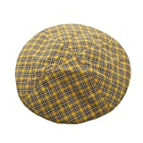 Cotton Vintage Plaid French-Beret Hat Painter-Beanie for Women (Yellow)