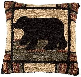 Park Designs Adirondack Bear Hooked Pillow