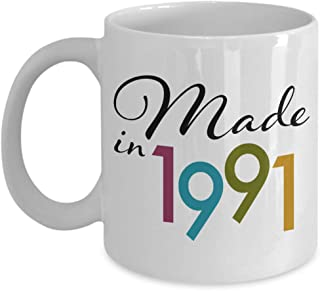 Happy 28th Birthday Ideas for Her - Gifts for 28 Year Old - Presents for 28th Birthday Mug - Made in 1991 Coffee Cup for Wife Women Mom from Daughter - 11 oz