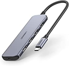 UGREEN USB C Hub Dock USB Type C to USB 3.0 Hub Adapter with 60W USB C PD Charging Compatible for MacBook Pro 2019 2018, Samsung Galaxy S10 S9 S8 Matebook X Pro Dell XPS 15 13