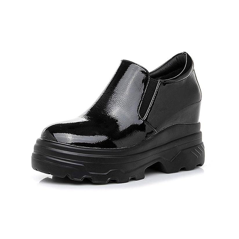 権利を与える壮大な無条件レディース 厚底靴 スニーカー スリッポン インヒール サイドゴア 軽い コンフォート 防水 エナメル 滑りにくい 履きやすい カジュアル 通学 通勤 トラベル シークレットシューズ 黒 白