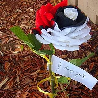 CER0T Egrow 200Pcs/bag Rare Rainbow Rose Seeds Black Red Color Rose Flower Bonsai Plants for Garden Balcony Planting