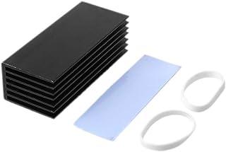 JUNESUN 1Set Aluminio Disipador térmico Enfriamiento Pad térmico Enfriador Radiador Enfriador para NVME M.2 NGFF SSD Disco de Disco Duro de Estado sólido