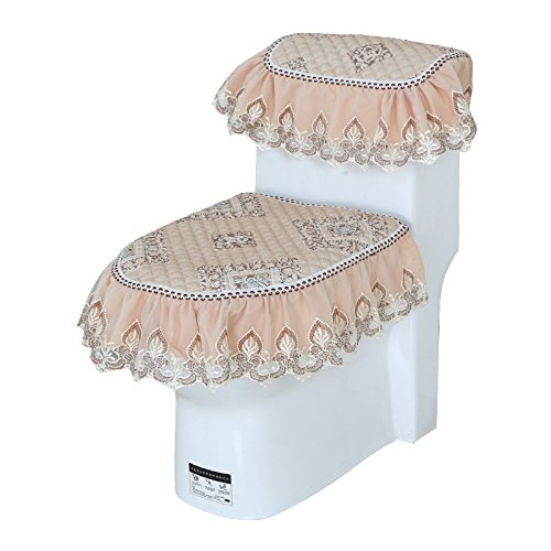 MKSFY toiletbril mode kant 3-delige rits gevoerde warm, Indiase diamantvormige thee