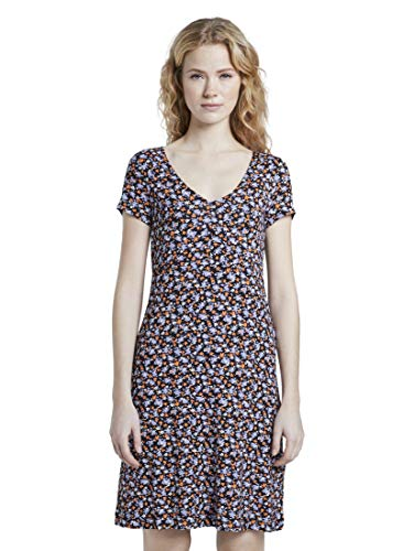TOM TAILOR Damen Kleider & Jumpsuits Gemustertes Jerseykleid Navy floral Design,46