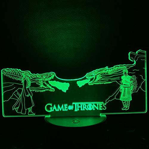 Kind Game Of Thrones führte Nachtlicht Erwachsene Mutter des Drachen gegen die anderen Nacht Kinder Schlafzimmer 3D Tischlampe Kinder Spielzeug Geschenklampe