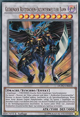 Konami - DUPO-DE058 - Glühender Rotdrachen-Erzunterweltler Bann - Ultra Rare - DE - Yugioh