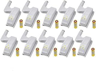 10 Stuks LED Scharnier Licht Universele Home Keuken Kantoor Deurlicht Hotel Garderobe Kast Automatische Schakelaar Koel Wi...