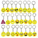 Gudotra Emoji Portachiavi Smile Gadget Regalo Pensierini Bomboniere Compleanno Bambini Adulti Natale 34 Pezzi