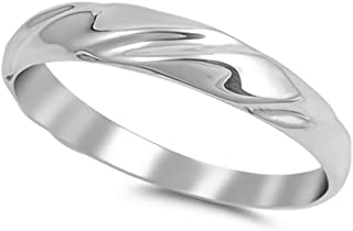Glitzs Jewels 925 Sterling Silver Ring (Twisted Texture) | Cute Jewelry Gift for Women in Gift Box