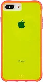 Case-Mate - iPhone 8 Plus Neon Case - Tough NEON- Glowing Neon Edge - Protective Design - Yellow/Pink Neon