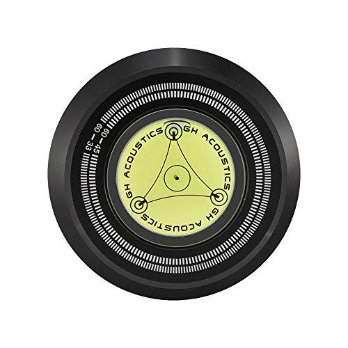 Record record stabilizer, record stabilizer, 60Hz vinyl platenspeler voor 7 mm spindeldiameter/LP platenspelers, compatibel met aluminium magnesiumlegering/waterpas (zwart)
