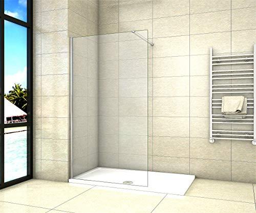 Aica Sanitär Duschwand Walk In Dusche 50cm Duschabtrennung 8mm NANO Glas Duschtrennwand 200cm Höhe