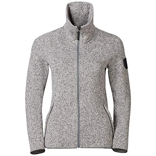 Odlo Damen Midlayer Full Zip LUCMA X Fleecejacke, Grey Melange, XXL