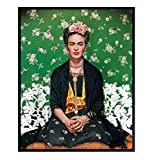 Contemporary Frida Kahlo Portrait Wall Decor Photo - 8x10 Home Decoration for Bedroom, Living Room, Apartment - Unique Gift for Artists and Painters, Modern Art Fans