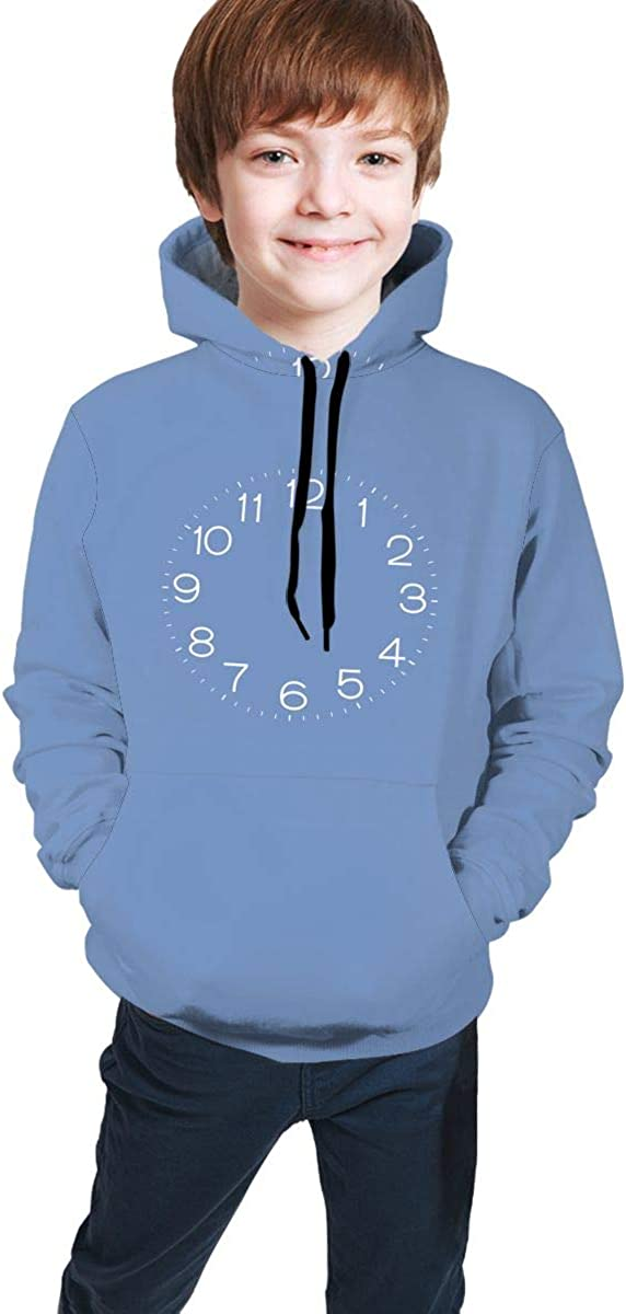 ENJYOP Kids Pullover Hoodies Casual Hooded Sweatshirts Tops with Pocket for Teen Boys Girls453