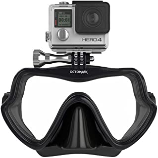 Compatible with Gopro - Frameless Dive Mask for Scuba Diving and Snorkeling