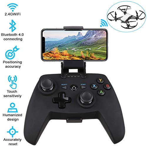 Crazepony-UK Remote Control for DJI Tello Drone with Joystick Precise D-pad Ergonomic Design Wireless Bluetooth Connector for iOS 7+ and Android 4.0+