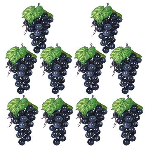 Cratone Deko Weintrauben 15 cm Wein Trauben Kunstobst Kunstgemüse künstliches Obst Gemüse Fruit Home House Kitchen Party Hochzeit Dekoration Lila