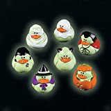 Fun Express Mini Glow-in-the-Dark Halloween Rubber Duckies-2 dozen-Trick-or-Treat favors, giveaways, Novelty Party Decorations