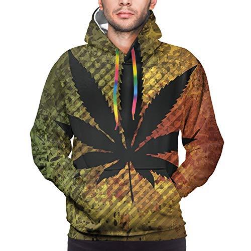 Alysai Marihuana Transparencia Mezclas Unisex Pullover Pareja Sudadera con Capucha Sudadera Colorida