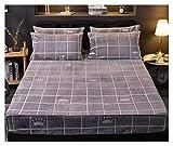 WSZMD Flat Bed Sheet Inverno Caldo Flanella Fascia Elastica Fornita Carta for 3D Stampa Floreale Peluche Molle Eccellente Regina Re Foglio Size E Federe, Flat Bed Sheet