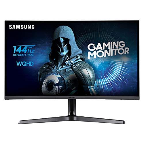 'Samsung c27jg50Monitor WQHD curvado de 27, base a doble articulación, 2560x 1440, 1800R, 4ms, 144Hz, HDMI y Display Port